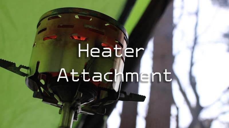 ヒーターアタッチメントはバックパックの冬キャンプの暖房にどうか?